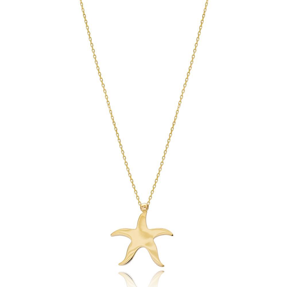 Starfish Fashion Design Wholesale 14k Gold Pendant