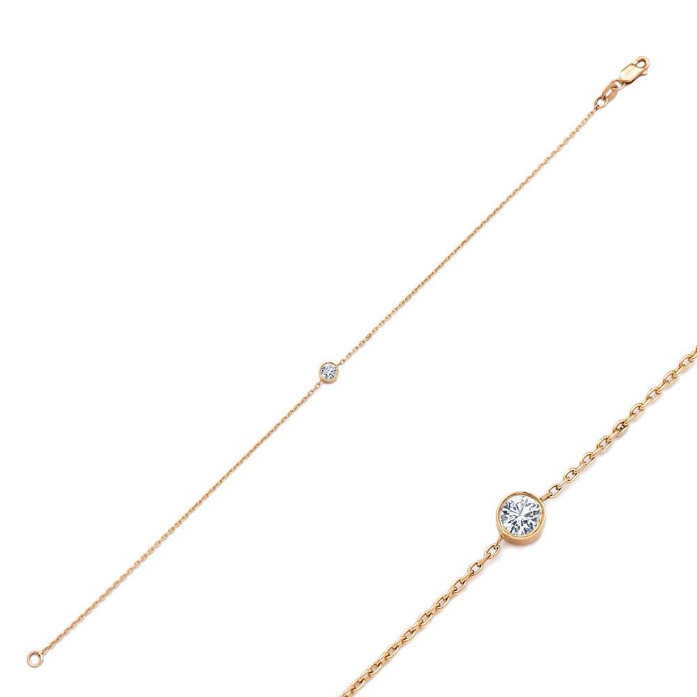 Elegant 0.20 Carat Diamond Wholesale Turkish 14k Gold Bracelet