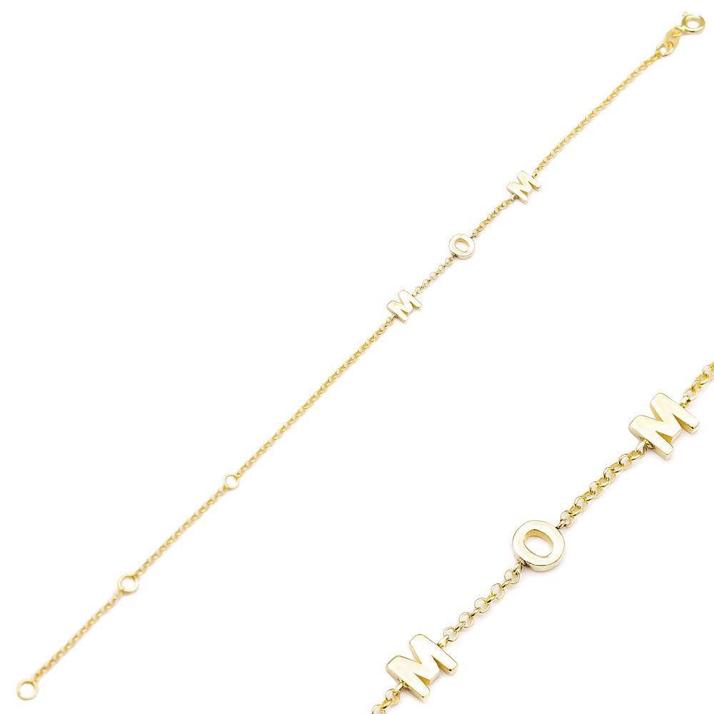 Dainty Design MOM Design Turkish Wholesale 14k Gold Bracelet