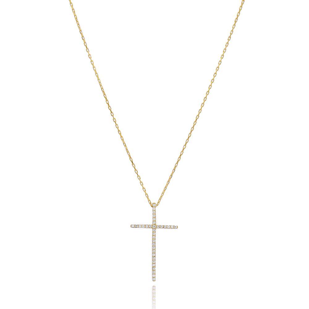 Fine Cross Wholesale Turkish 14k Gold Pendant