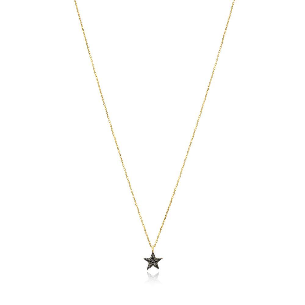 Minimal Star Wholesale Turkish 14k Gold Pendant