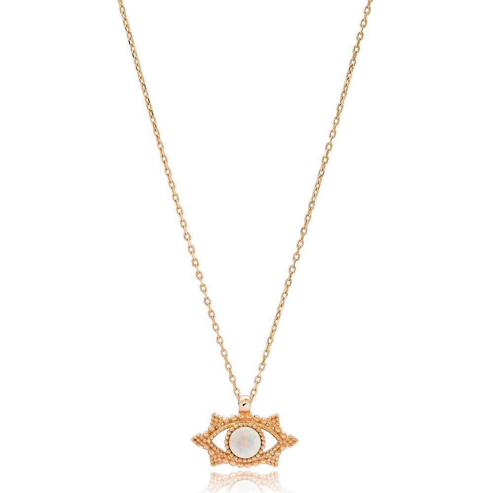 Evil Eye Turkish Wholesale 14k Gold Necklace