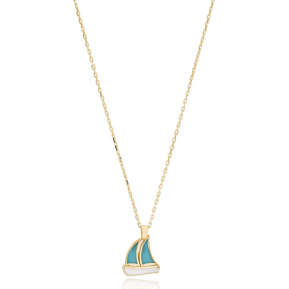Boat Design Wholesale 14k Gold Necklace