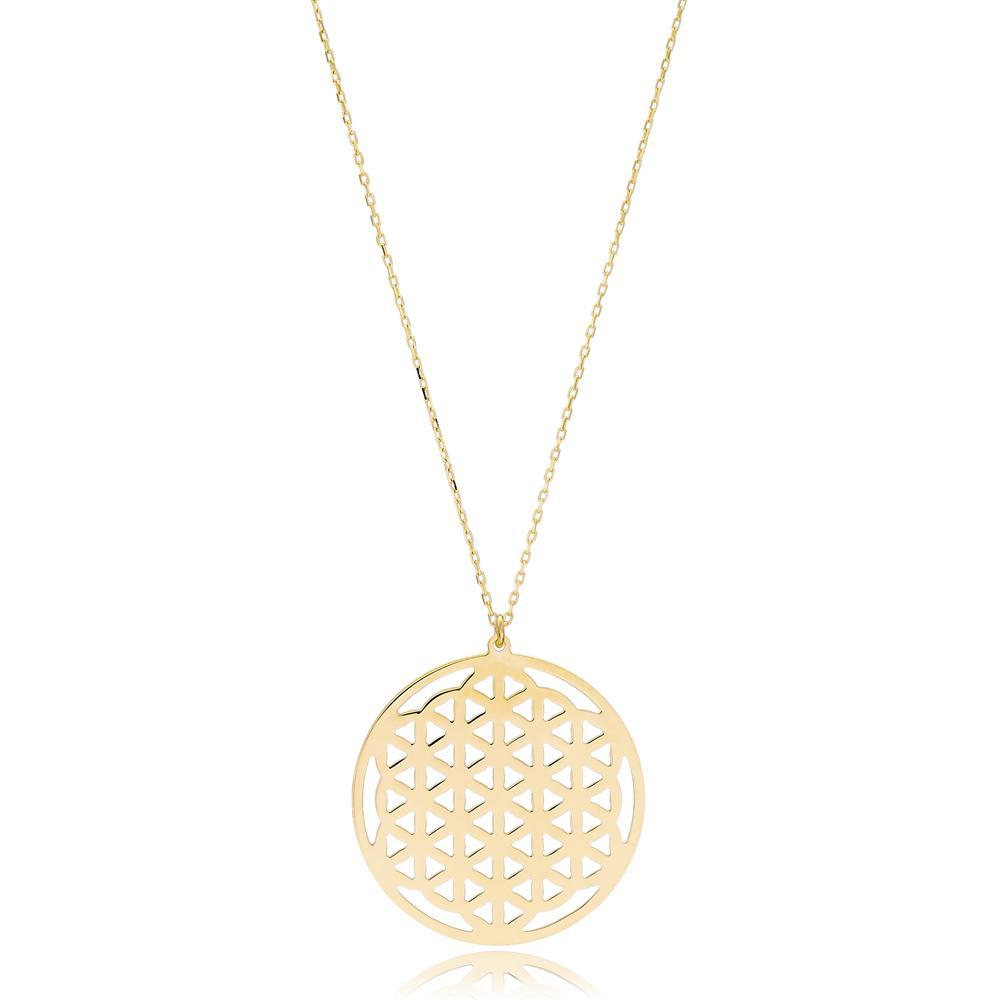 Smooth Design Wholesale Handmade 14k Gold Necklace
