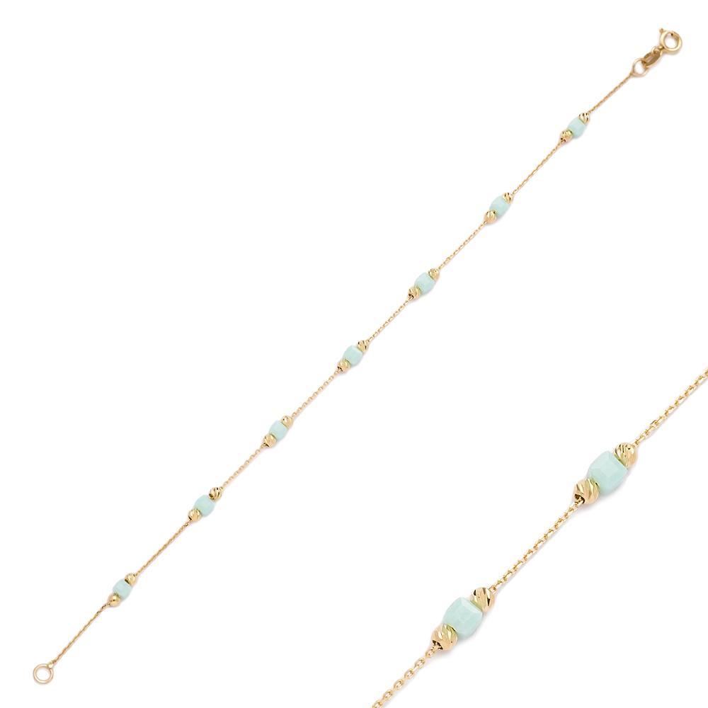 Beaded Turkish Wholesale 14k Gold Bracelet
