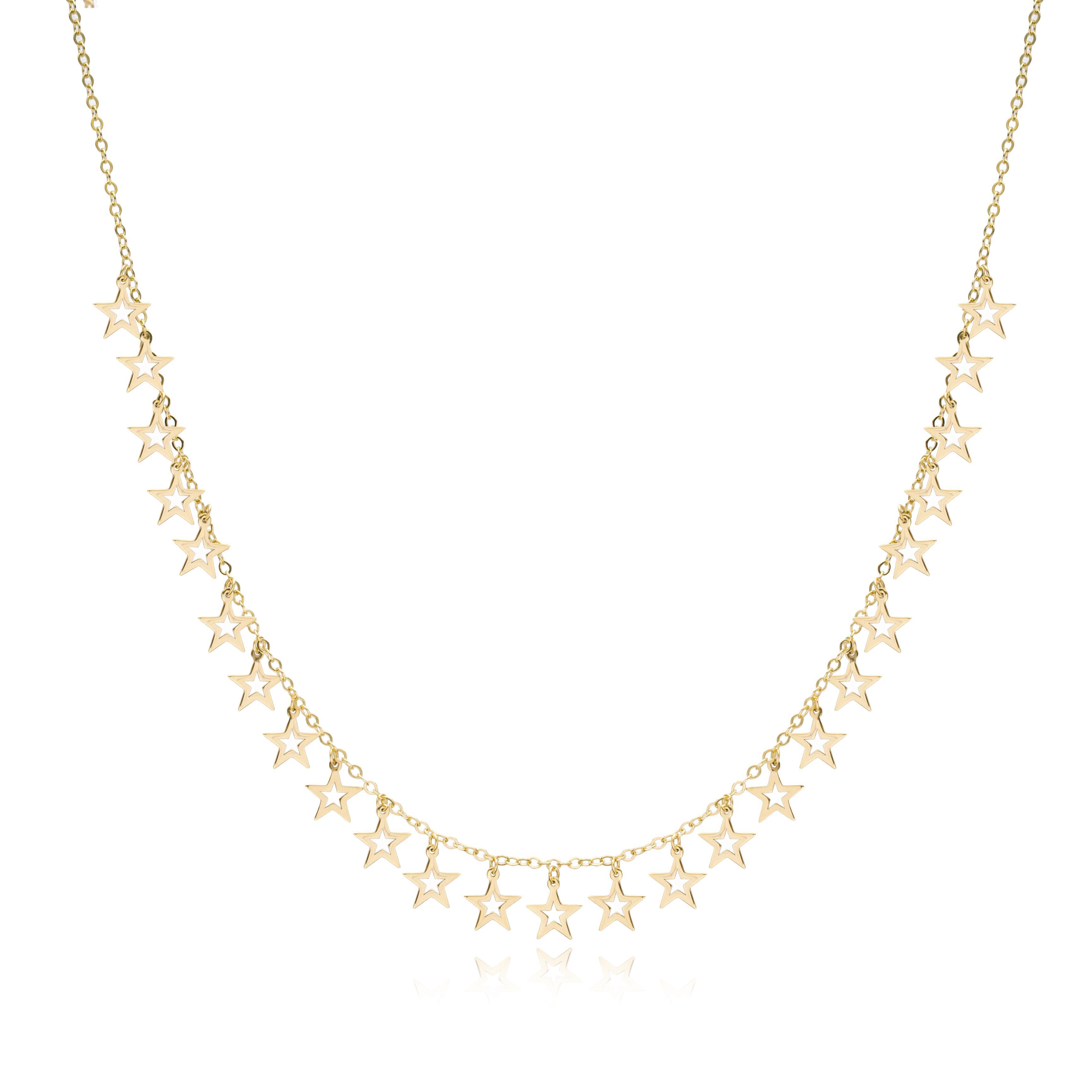10K Gold Elegant Shaker Star Pendant Wholesale Handmade Turkish Jewelry