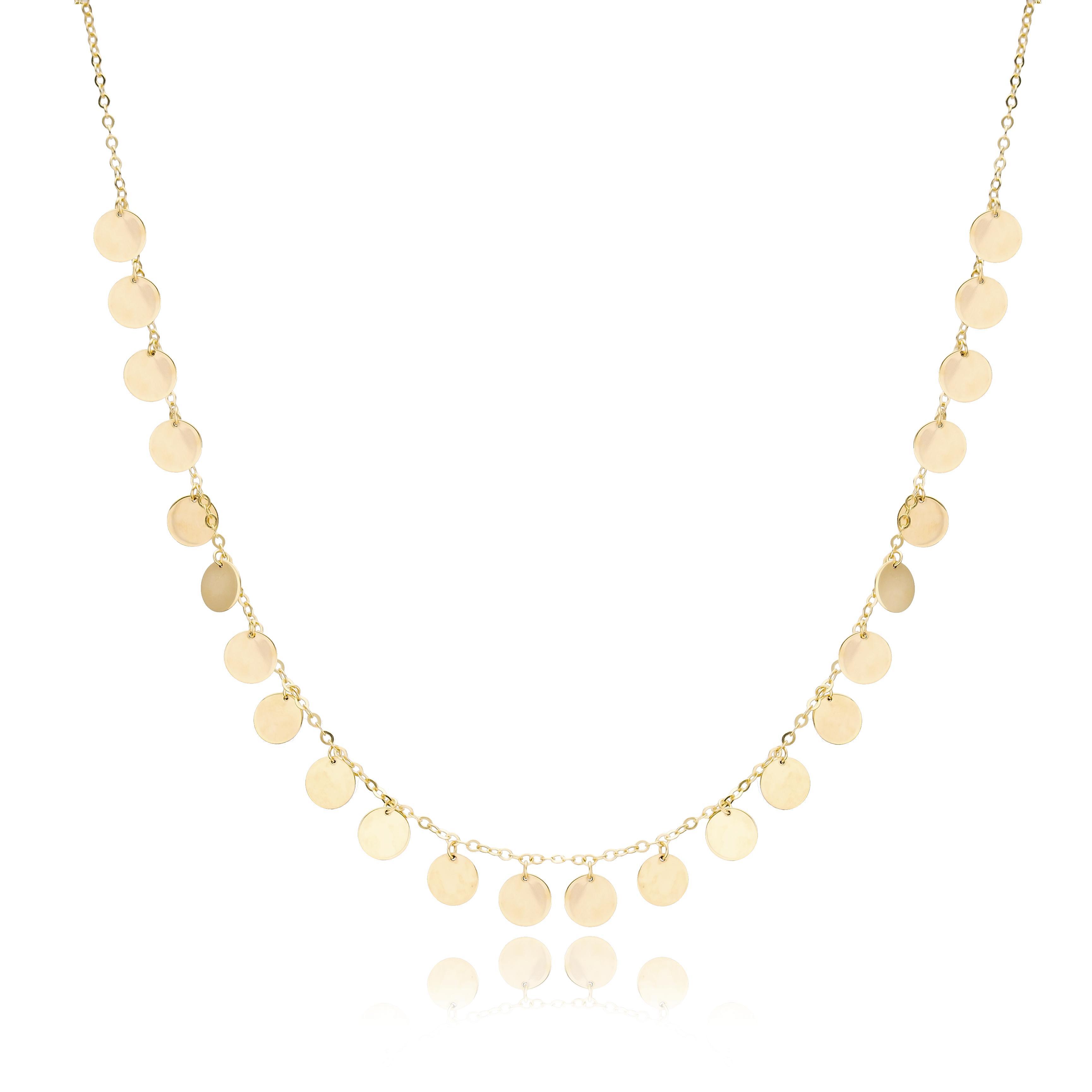 10K Gold Elegant Shaker Circle Pendant Wholesale Handmade Turkish Jewelry