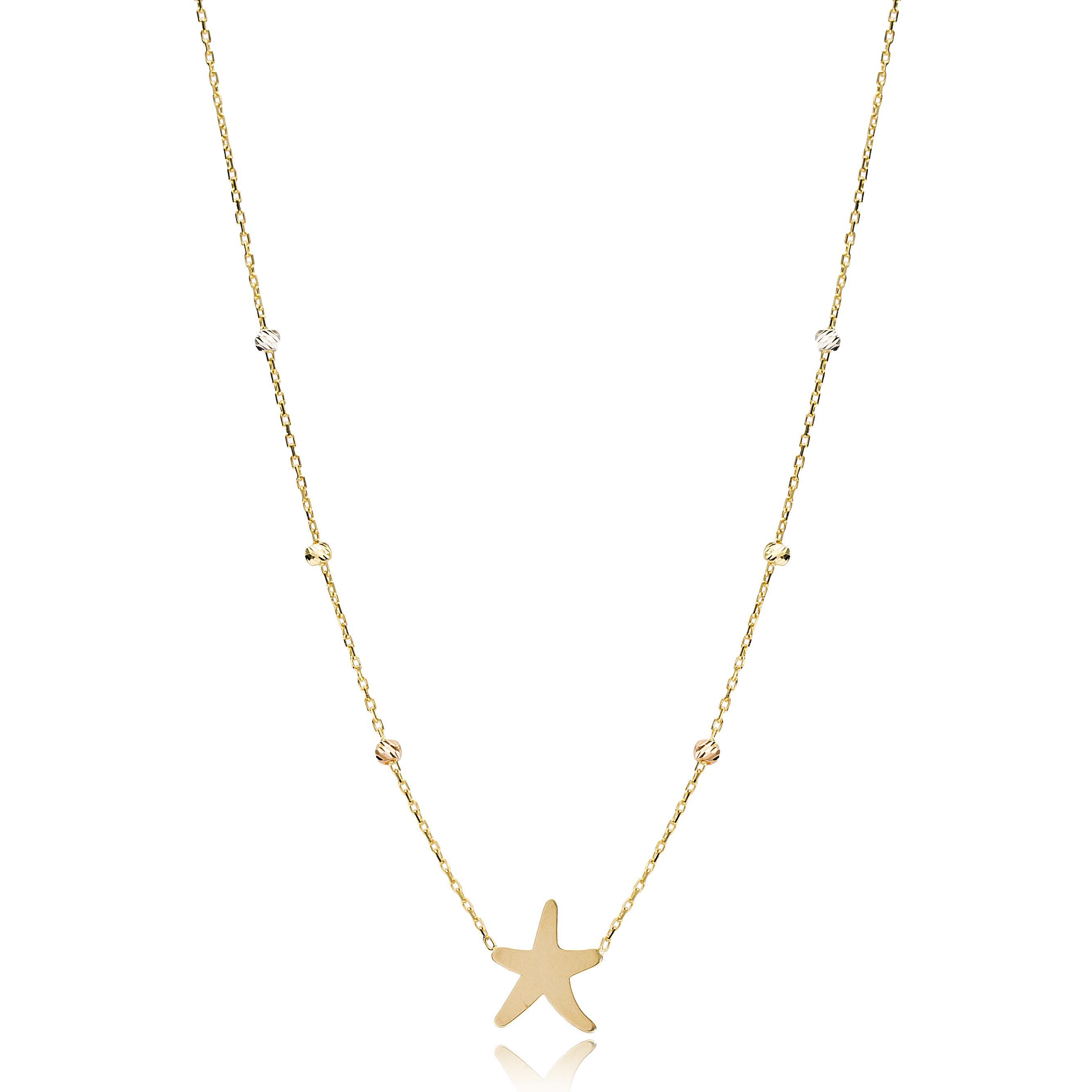 Starfish Charm Necklace Wholesale Handmade Turkish 14K Jewelry