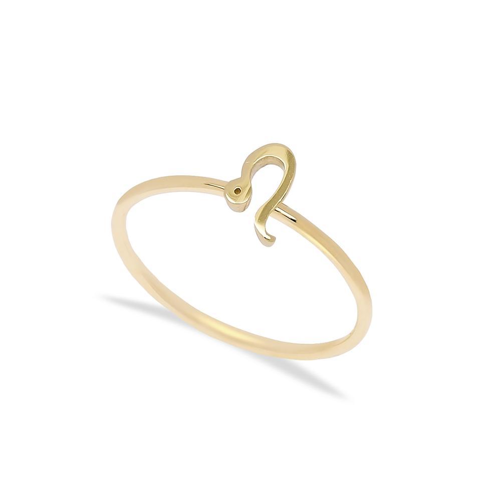 Leo Zodiac Ring 14 k Wholesale Handmade Turkish Gold Jewelry