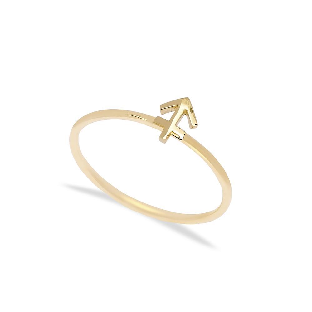 Sagittarius Zodiac Ring 14 k Wholesale Handmade Turkish Gold Jewelry