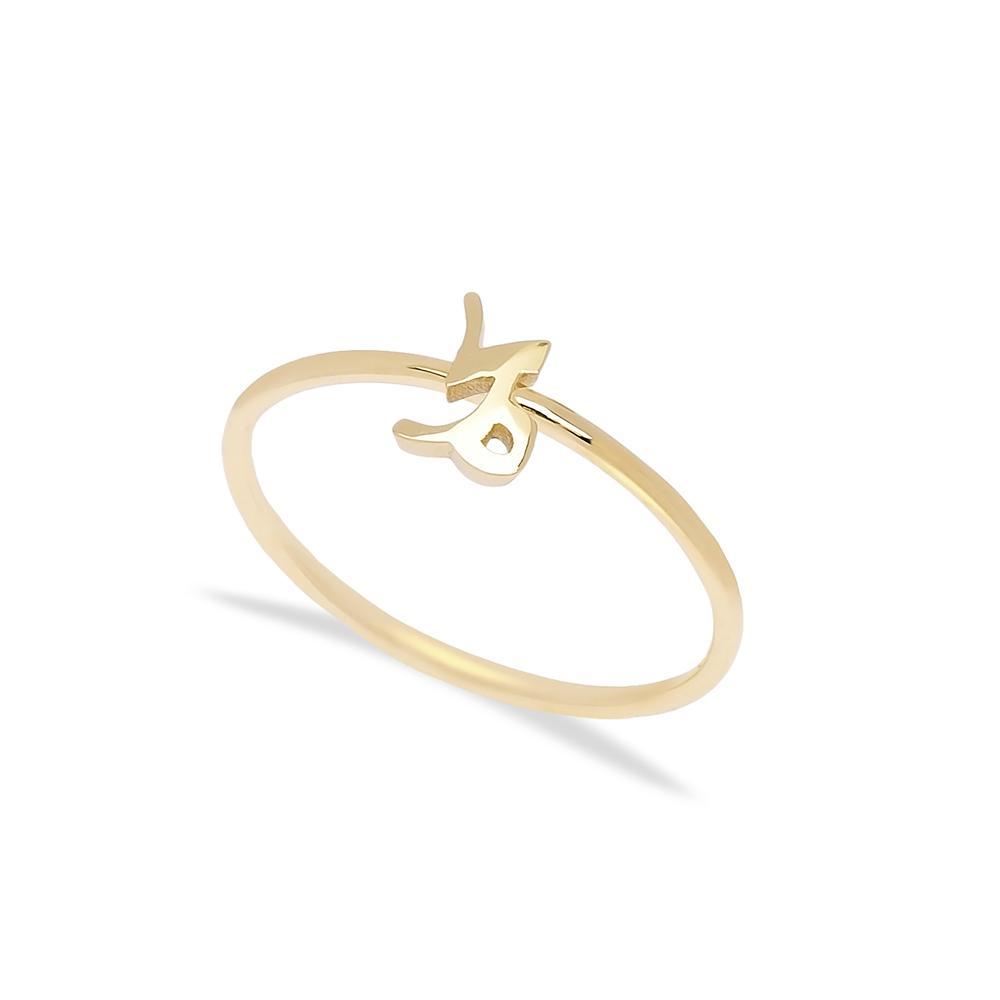 Capricorn Zodiac Ring 14 k Wholesale Handmade Turkish Gold Jewelry