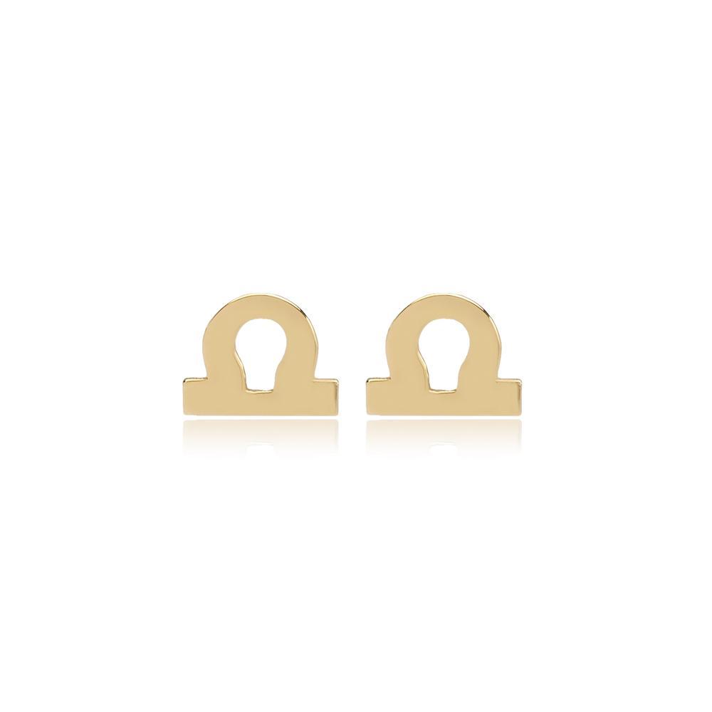 Libra Zodiac Stud Earring Wholesale Turkish 14k Gold Earring