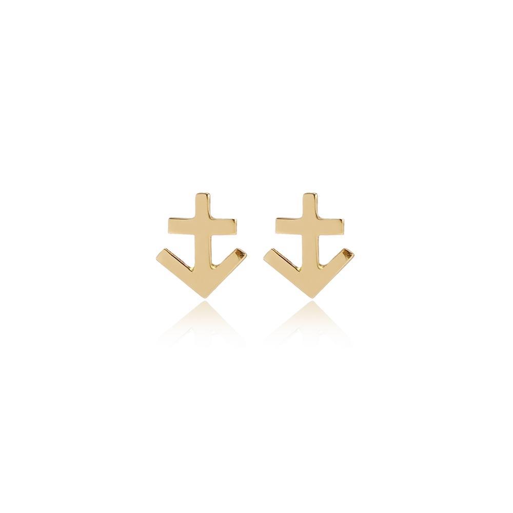Sagittarius Zodiac Stud Earring Wholesale Turkish 14k Gold Earring