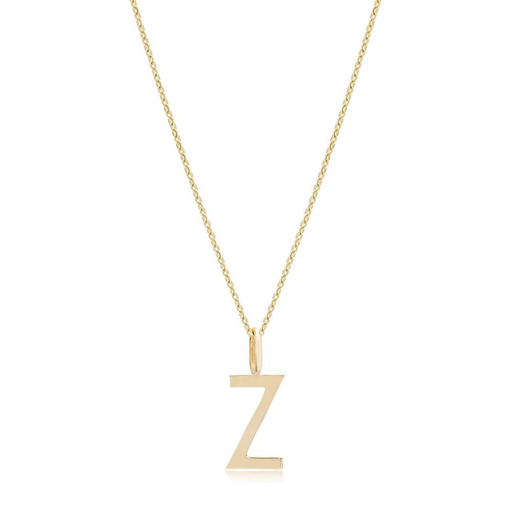 Z Letter Pendant Turkish Wholesale 14k Gold Jewelry