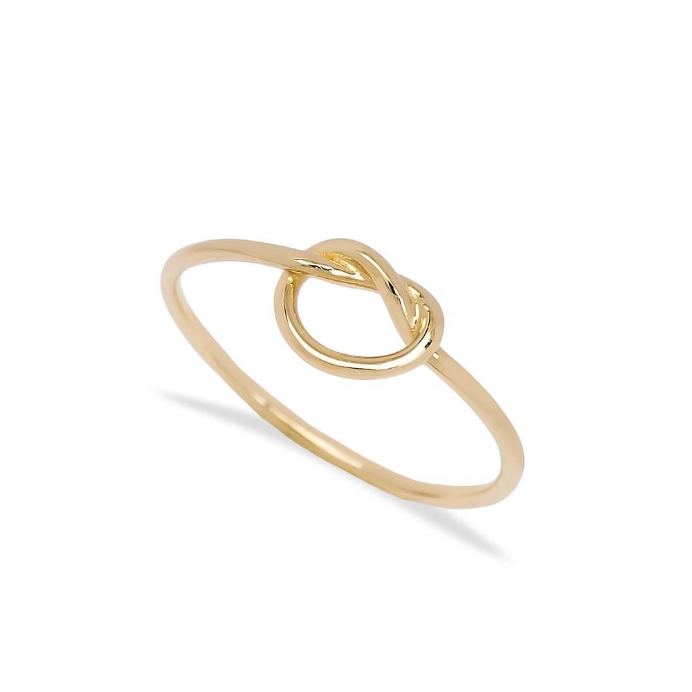 14k Gold Love Knot Ring Wholesale Handmade Turkish Gold Jewelry