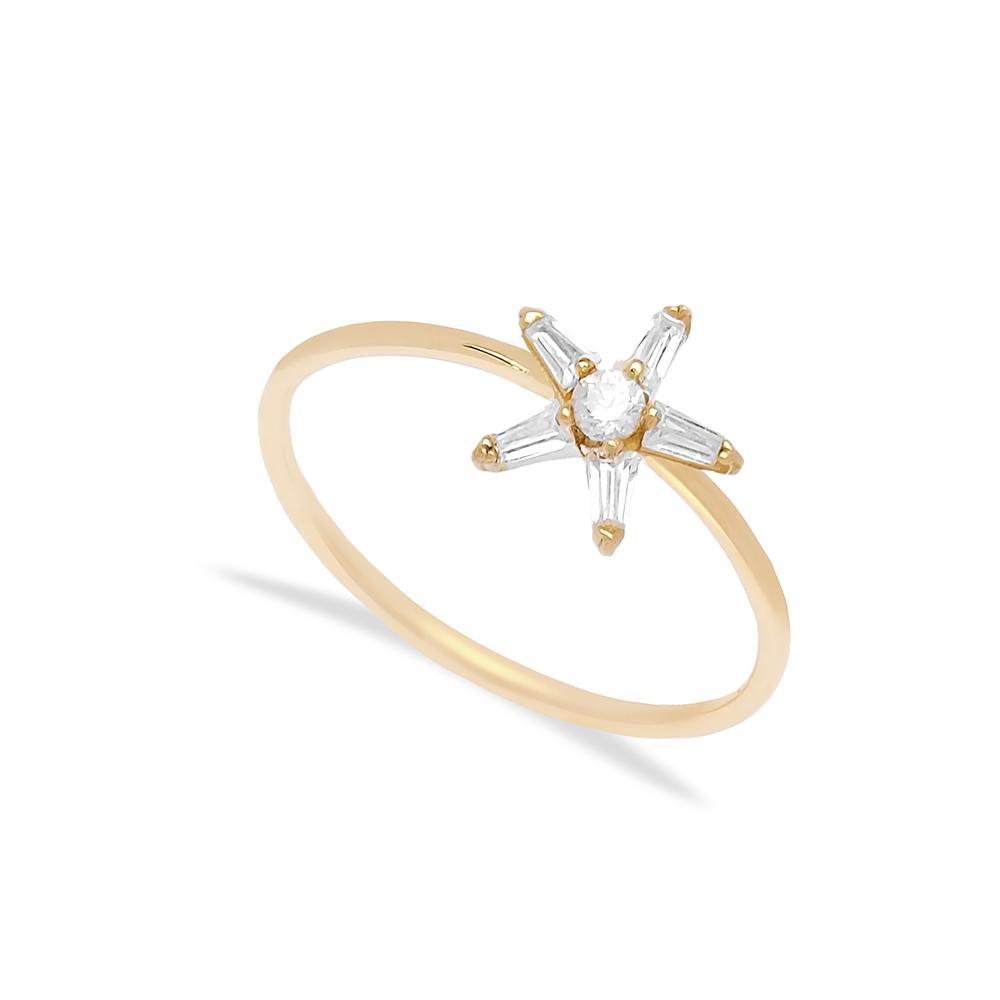 14k Gold Star Ring Wholesale Handmade Turkish Gold Jewelry