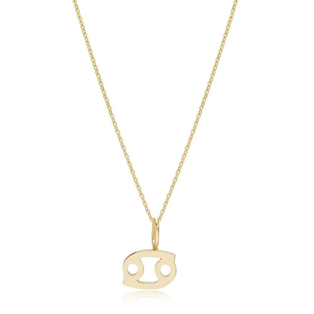 14K Gold Cancer Zodiac Pendant Turkish Wholesale Gold Jewelry