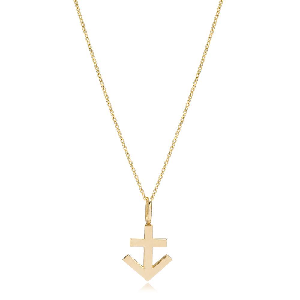 14K Gold Sagittarius Zodiac Pendant Turkish Wholesale Gold Jewelry