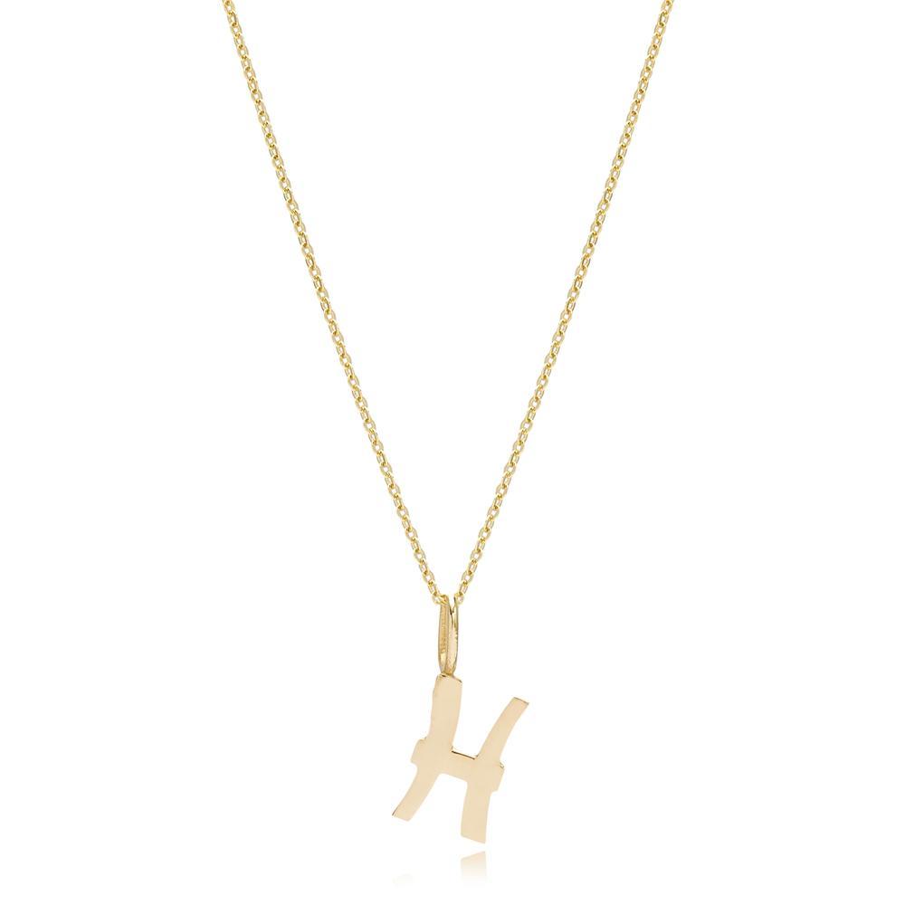 14K Gold Pisces Zodiac Pendant Turkish Wholesale Gold Jewelry