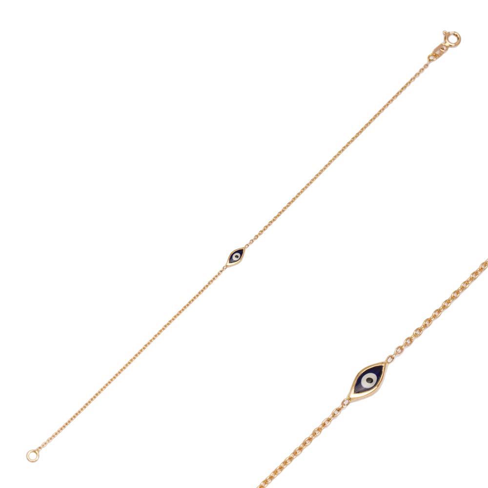 14K Gold Evil Eye Charm Bracelet Wholesale Handmade Turkish Jewelry