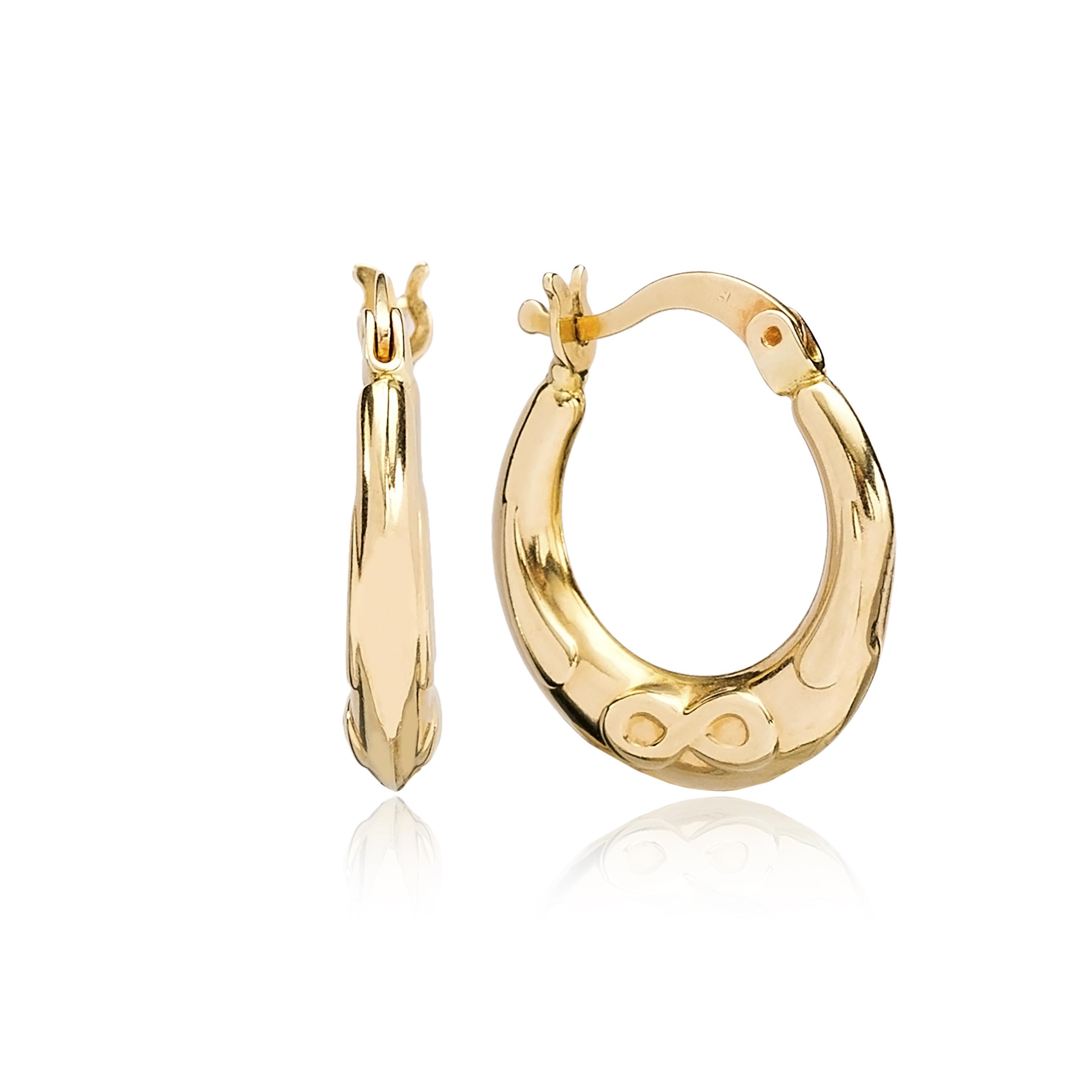 14 K Gold Plain Hoop Earring Wholesale Turkish Gold Earring
