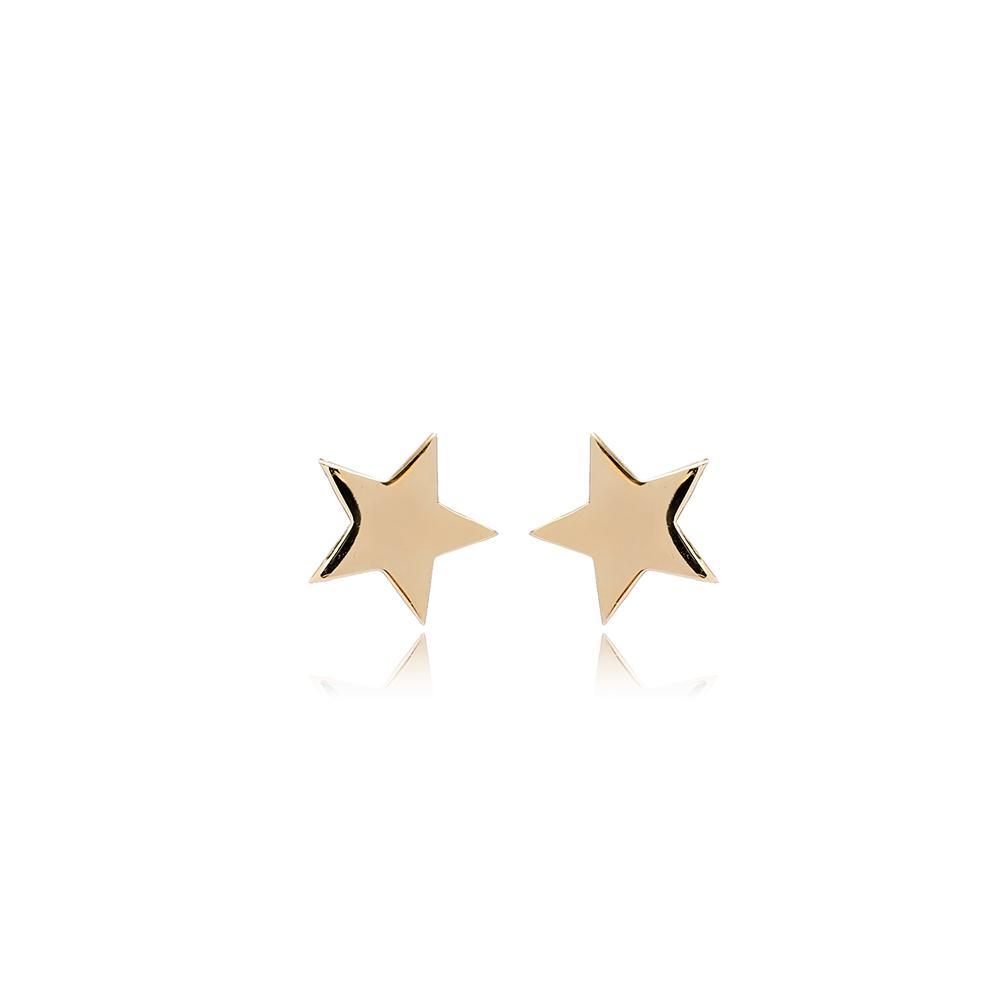 Star Stud Earring Wholesale Turkish 14k Gold Earrings