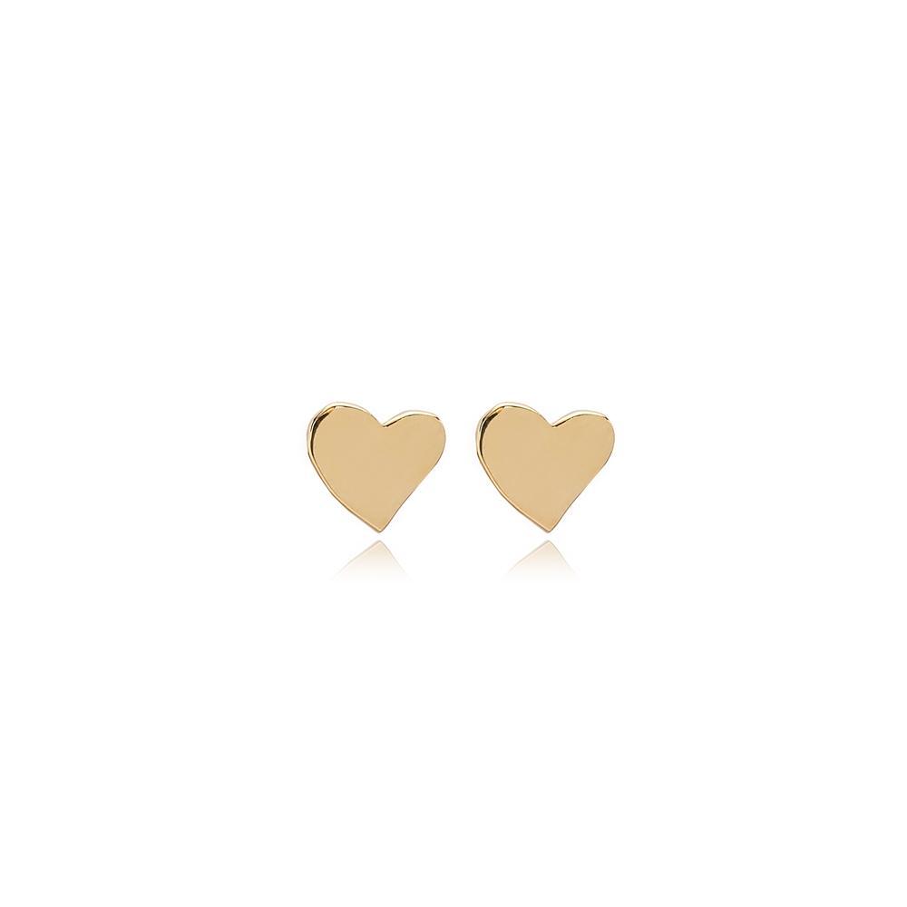 Heart Stud Earring Wholesale Turkish 14k Gold Earrings