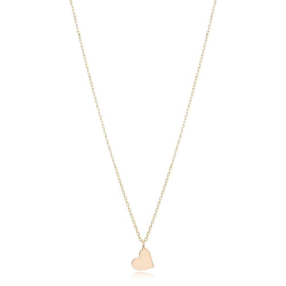 14K Gold Heart Pendant Turkish Wholesale Gold Jewelry