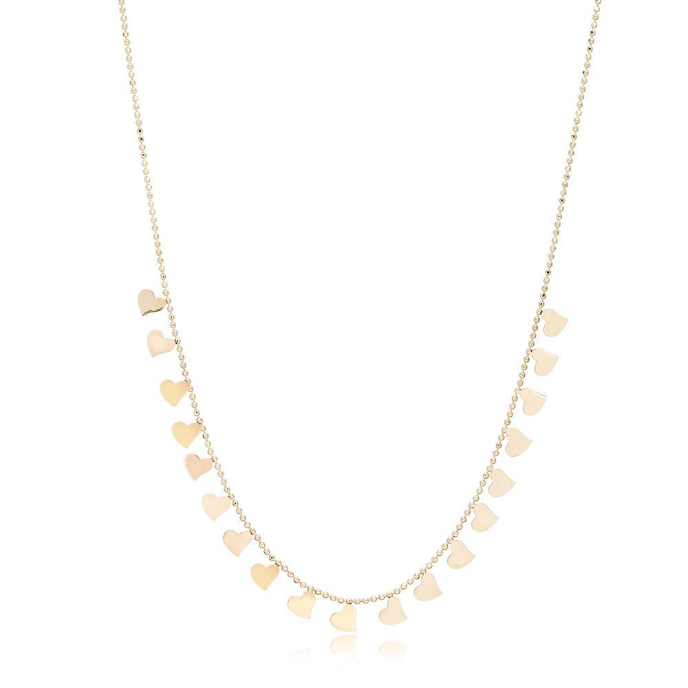 14K Gold Heart Shaker Pendant Turkish Wholesale Gold Jewelry